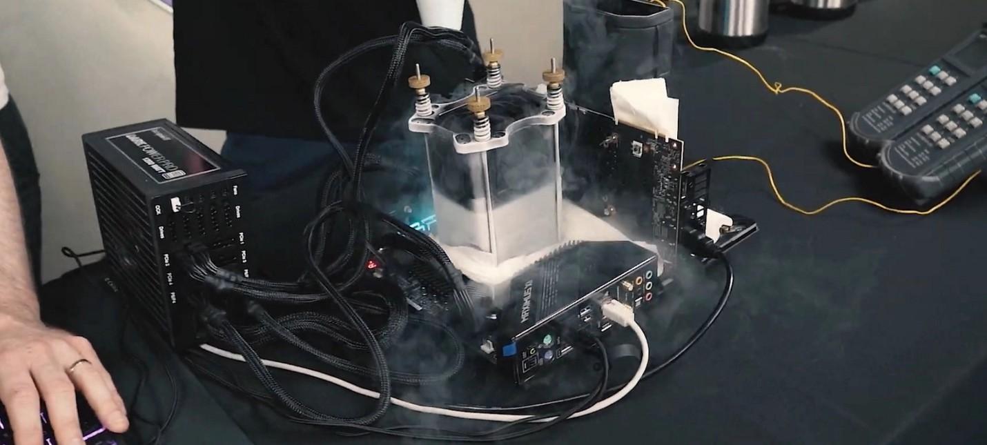 DOOM Eternal смогли запустить с 1000 кадрами в секунду с использованием жидкого азота