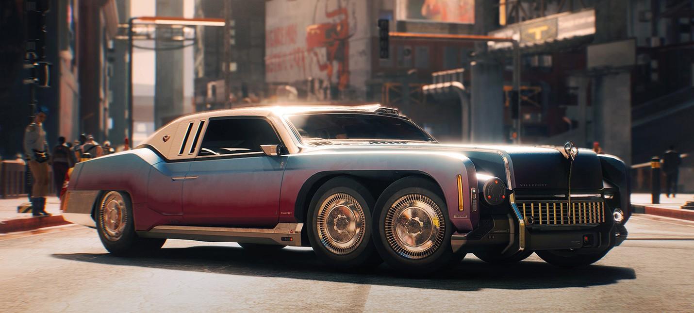 Угон авто в Cyberpunk 2077 привязан к прогрессу персонажа, тачки нельзя оставлять себе