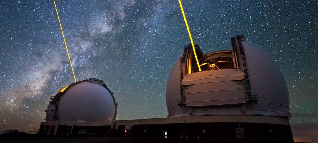 Time-lapse: лазером по звездам