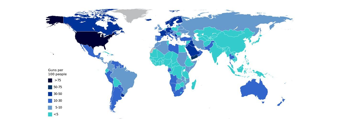 Карта: у кого больше всего оружия