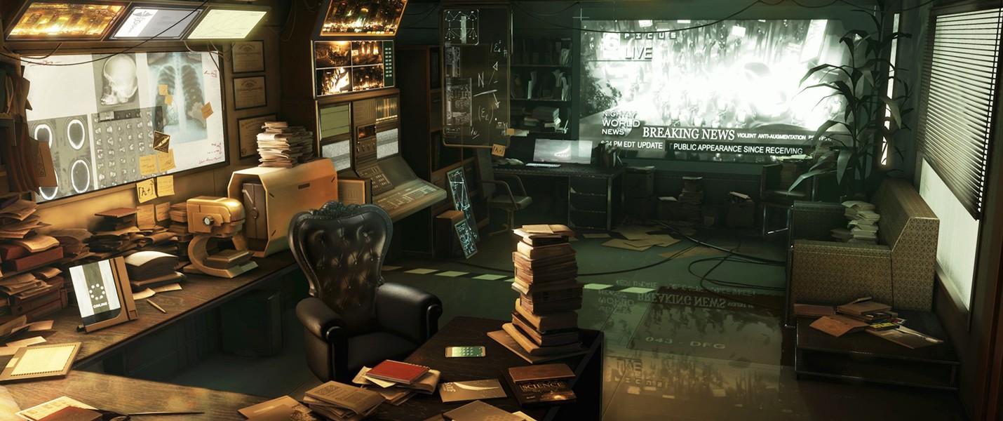 Сцена Deus Ex: Human Revolution воссозданная на Unreal