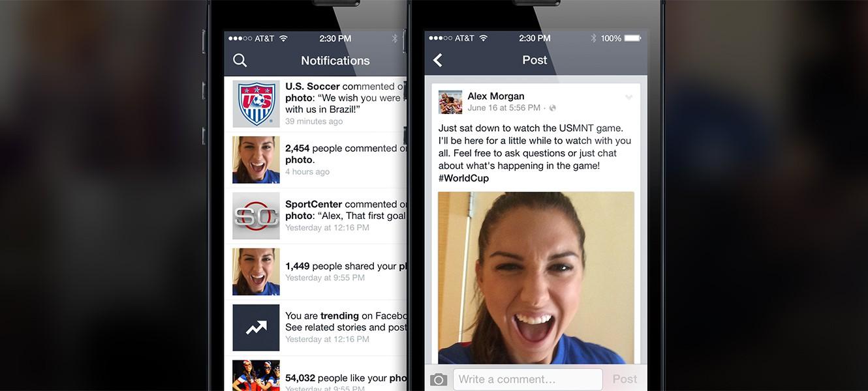 Facebook запустил приложение для знаменитостей