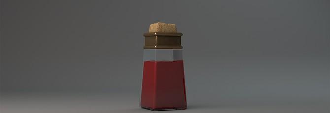 Short: Бутылки с лечебным зельем в 3D