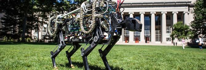 Робот-гепард из MIT научился прыгать во время бега