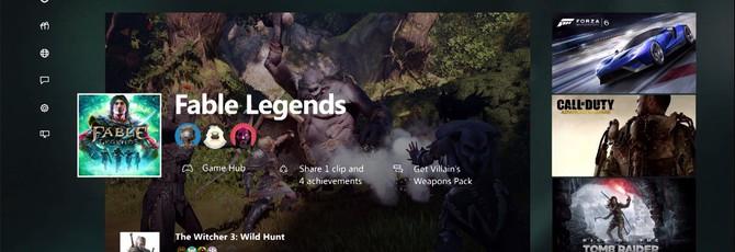 Демонстрация нового интерфейса Xbox One