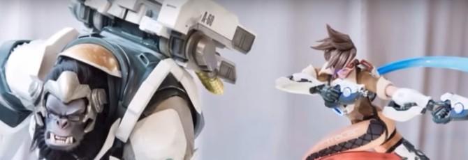 Видео изготовления статуй персонажей из Overwatch