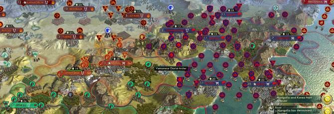 Мега-битва Civilization V с 61 цивилизациями продолжается