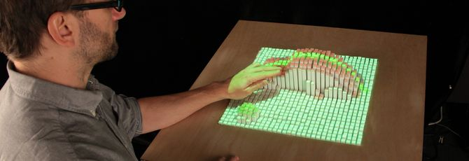 Кинетический стол MIT научился складывать кубики