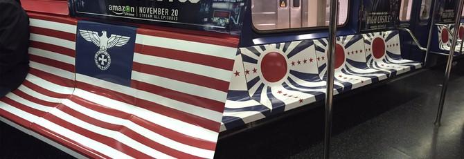 Нацистская символика в метро Нью-Йорка