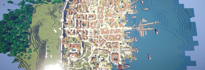 Гавана из Assassin's Creed IV в Minecraft
