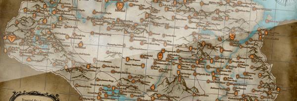 Карта The Elder Scrolls V: Skyrim со всеми локациями