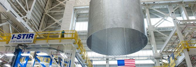 Как NASA собирает 40-метровый космический топливный бак