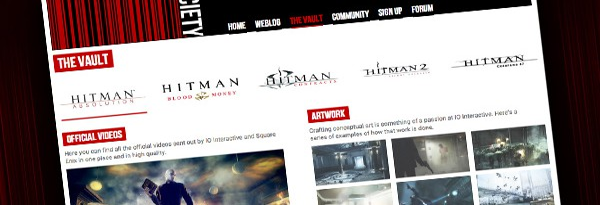 Новый сайт для коммьюнити Hitman