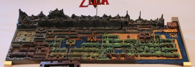 Карта оригинальной The Legend of Zelda напечатана на 3D-принтере