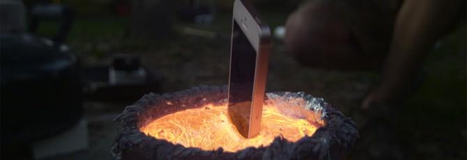 Утопление iPhone в раскаленном алюминии... выглядит скучно