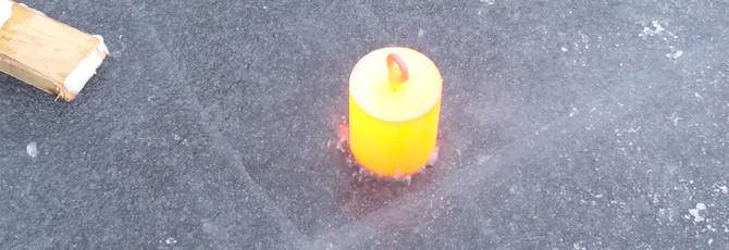 Как сделать лунку для зимней ловли при помощи раскаленного стального цилиндра