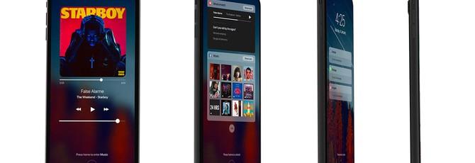 Концепт-видео iPhone 8 с безрамочным дисплеем
