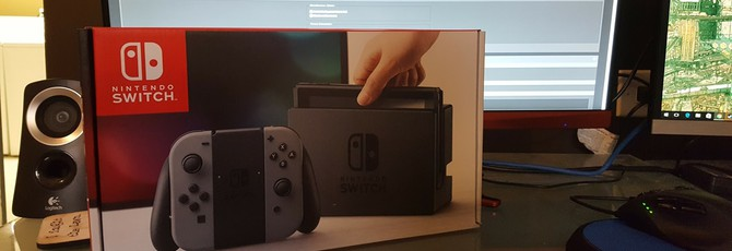 Распаковка консоли Nintendo Switch