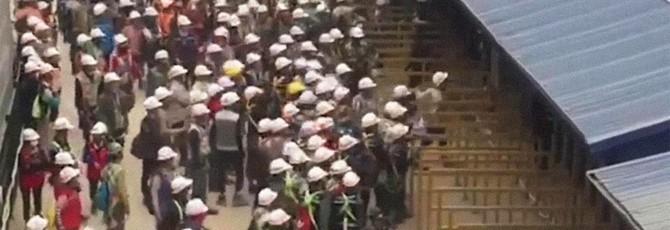 Масштабный бунт произошел на вьетнамской фабрике Samsung