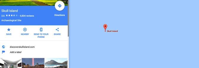 Остров Конга можно найти на карте Google