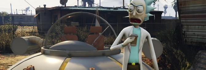 """Рика из """"Рика и Морти"""" перенесли в GTA 5"""