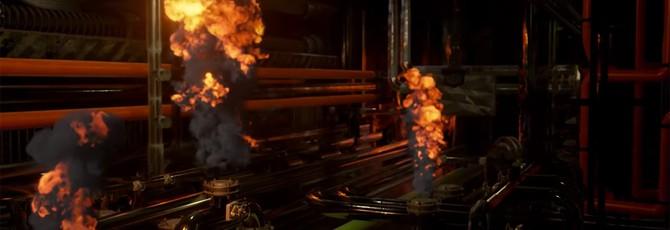 Новая техно-демка Nvidia: дым и огонь