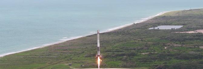 Очередная посадка ракеты SpaceX в чудесном 4K