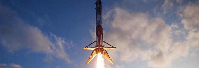 Посадка ракеты Falcon 9 в бассейн при помощи дополненной реальности