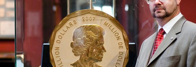 Полиция арестовала подозреваемых в похищении 100-килограмовой золотой монеты