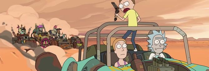 """Превью эпизода """"Рика и Морти"""" в мире """"Безумного Макса"""""""