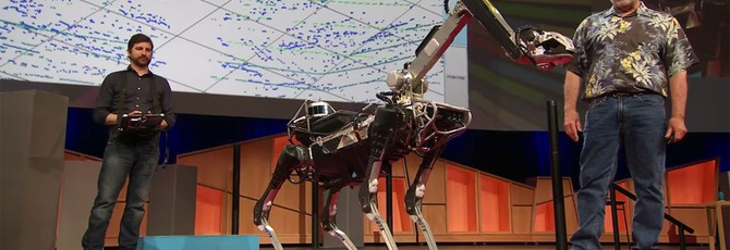 Послушный песик Спот от Boston Dynamics на TED Talk