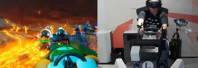 Геймплей Mario Kart VR выглядит потрясающе