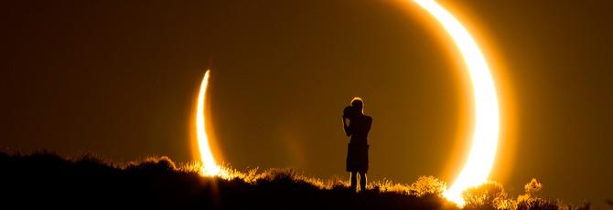 Лайвстрим полного солнечного затмения