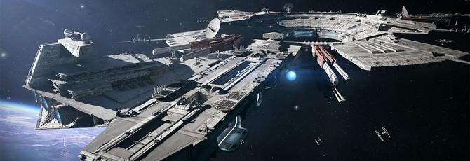 Запись матча в режиме космических битв Star Wars Battlefront II на PS4 Pro