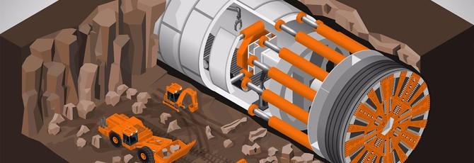 Автомобиль Маска в тоннеле Маска