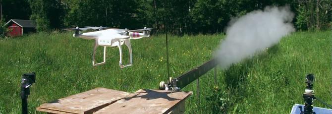 Реактивная катана против летающего дрона
