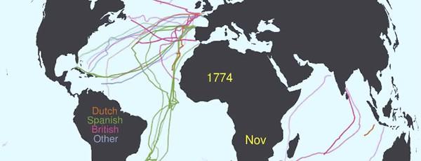 100 лет мореплаваний на видео