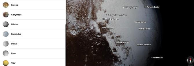 Google Maps теперь позволяет рассматривать планеты и луны