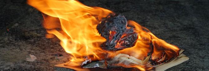 """Эту копию книги """"451 градус по Фаренгейту"""" нужно читать при помощи огня"""