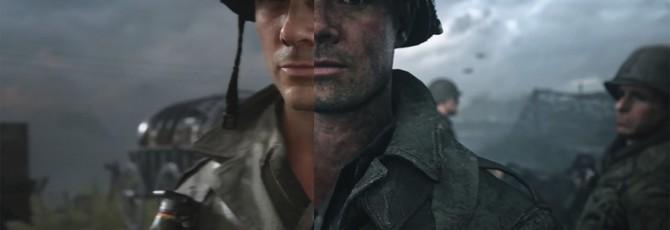 Сравнение графики Call of Duty: WW2 — Трейлер vs. PS4 Pro