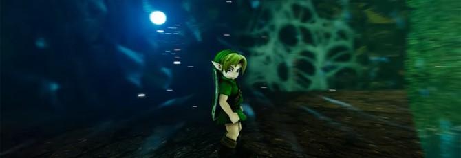 Геймплей ремейка Zelda Ocarina of Time на Unreal Engine 4