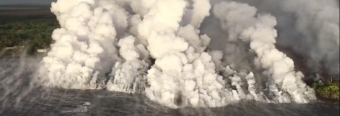 Завораживающее видео извержения вулкана Килауэа на Гавайях