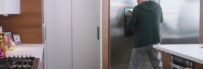 """В Skyrim действительно можно играть """"на холодильнике"""""""