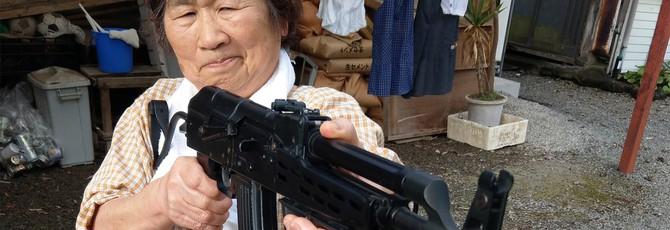 Пожилая японка стала звездой страйкбола