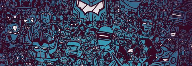 Куча знакомых роботов на фанатском постере