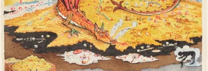 Шикарные зарисовки Толкина к собственным книгам