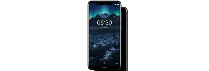 У бюджетного Nokia X5 тоже выемка на дисплее