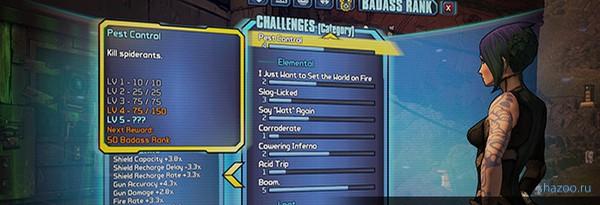 Гайд Borderlands 2 – Прокачка ранга Badass