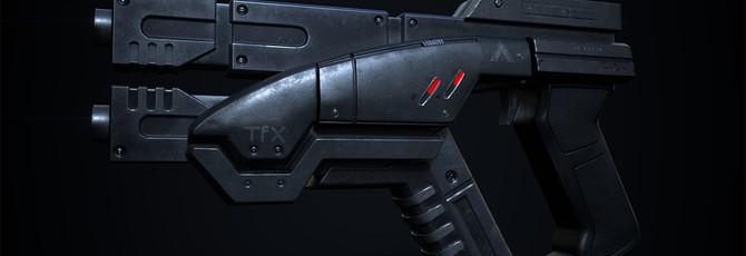Эта копия пистолета из Mass Effect умеет складываться