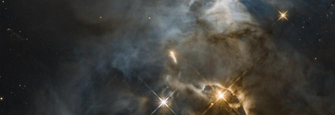 """Телескоп """"Хаббл"""" сделал снимок далекой звезды, отбрасывающей гигантскую тень"""